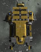 Mining Hauler beneath