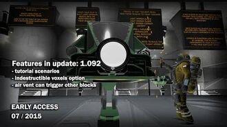 Space Engineers - Update 01.092- Tutorial scenarios, Indestructible voxels