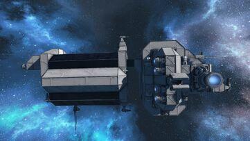 Military Minelayer starboard