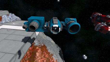 Large Grid Thrusters Aft