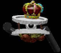 King Spaghetti pose