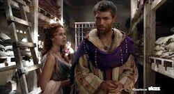 Laeta im Gespräch mit Spartacus