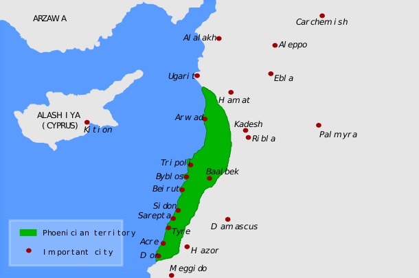 Image Phoenicia Mapen Svgpng Spartacus Wiki FANDOM Powered - Cyprus map png