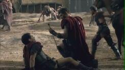 Spartacusdefeats tiberius