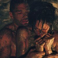 Crixus rescuing Naevia from the mines