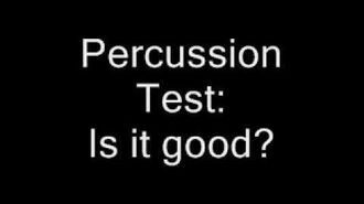 Sparta Remix Percussion Test
