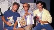 StanLee-RobLiefeld-ToddMcFarlane-one time use only-getty-h 2018