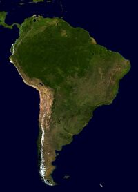 South America from space