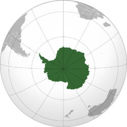 Antarctica projection
