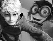 Nello and Jack Frost in black and white color
