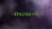 Species III Title Screen