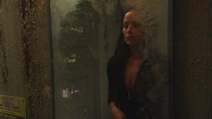 Amelia in Bathroom