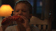 Sara Eating Lobster