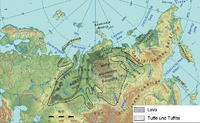 Extent of Siberian traps