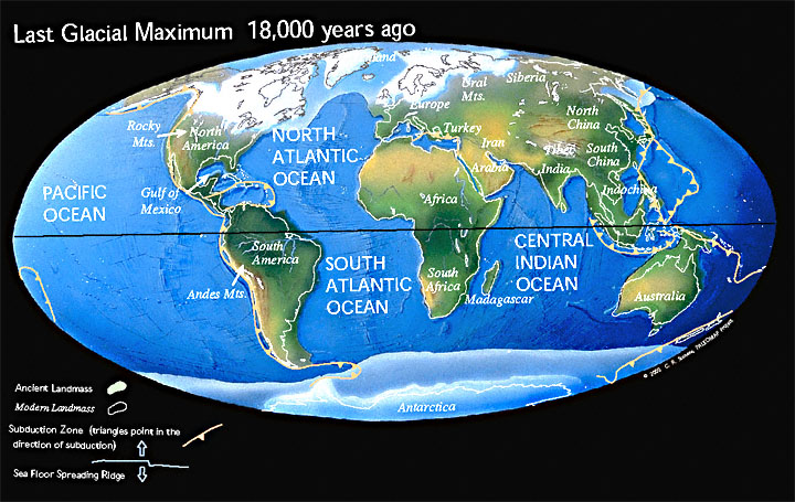 Future geography speculative evolution wiki fandom powered by wikia modern earth would look like this during a glaciation c c r scotese publicscrutiny Images