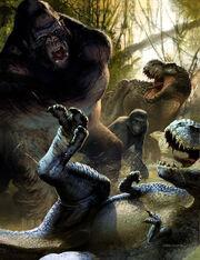 M.kong facing V.rex