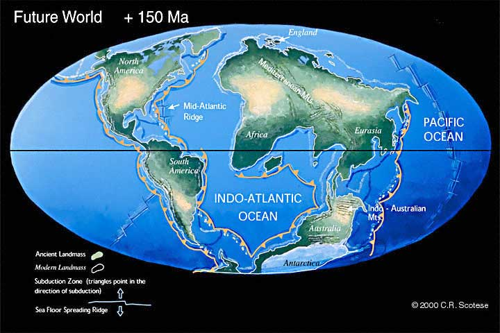 Future geography speculative evolution wiki fandom powered by wikia earth 150 ma in the future c c r scotese publicscrutiny Images