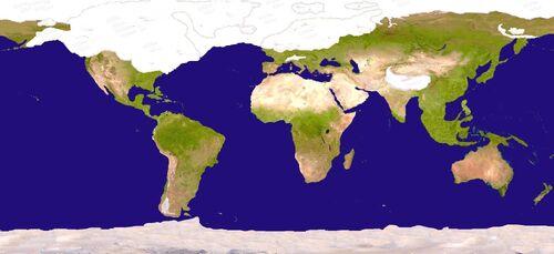 Ice age world map by fenn o manic