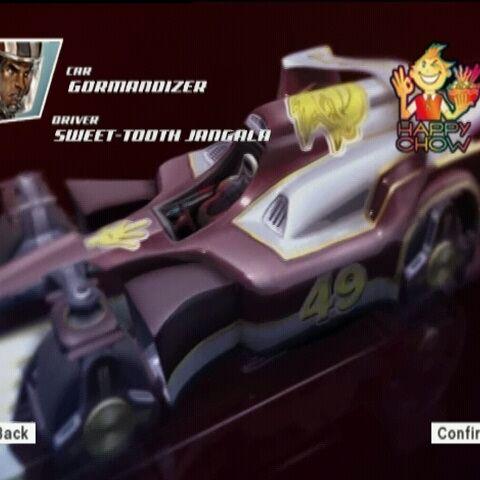 Sweet-Tooth's car, the Gormandizer.