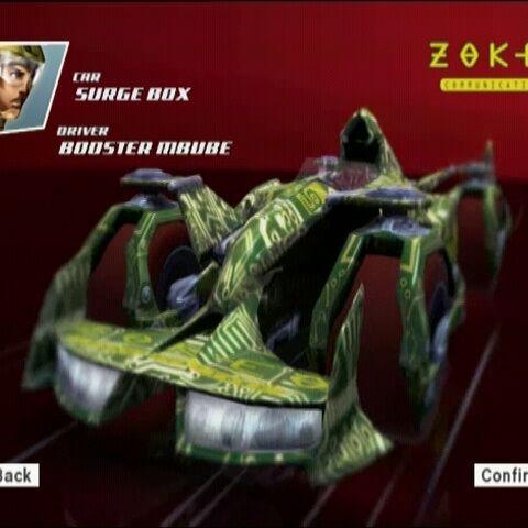 Booster's car, the Surge Box.