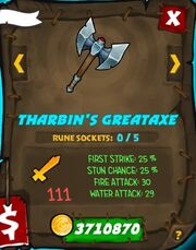 Tharbins great axe 32