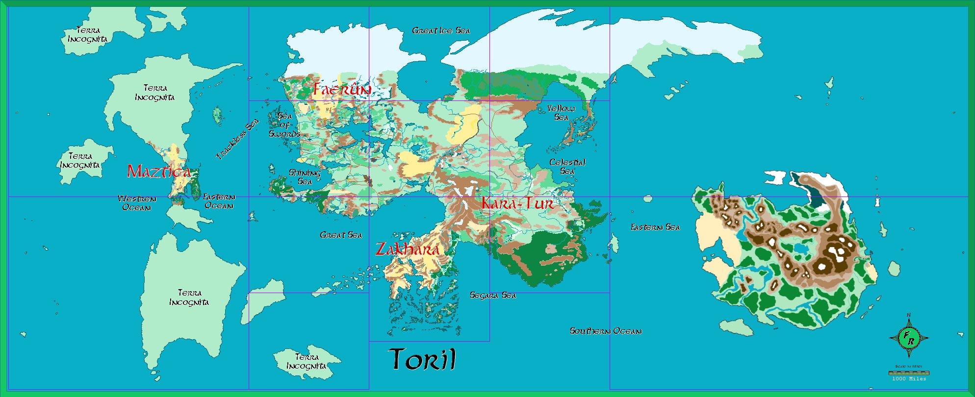 Image Map Planet Toril Jpg Spelljammer Wiki FANDOM - 2012 world map