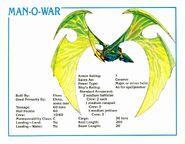 Man-O-War Data Card 2e