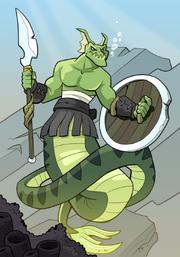 Merfolk Monster Warrior A