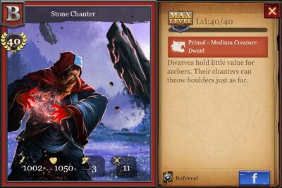 Stone Chanter max