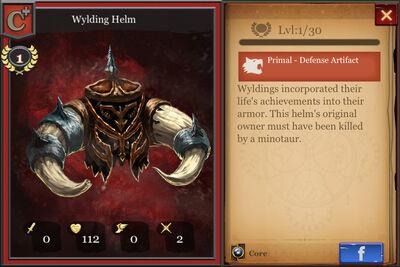Wylding Helm c+