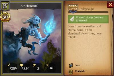 Air Elemental B+ max