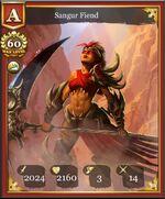 Sangur Fiend A max card