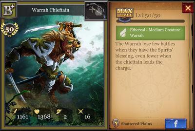 Warrah Chieftain B+ max