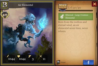 Air Elemental max