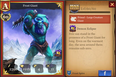 Frost Giant max