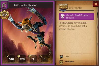 Elite Goblin Skeleton max