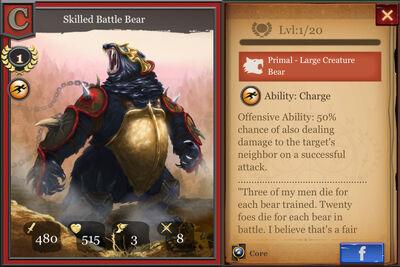 Skilled Battle Bear