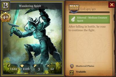 Wandering Spirit max
