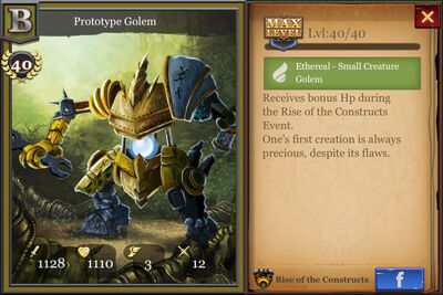 Prototype Golem max