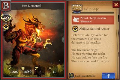 Fire Elemental max