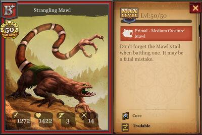 Strangling Mawl B+ max