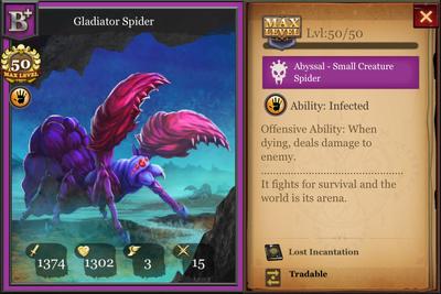 Gladiator Spider B+ max