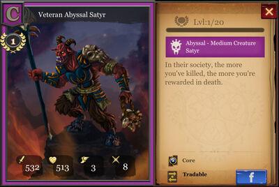 Veteran Abyssal Satyr