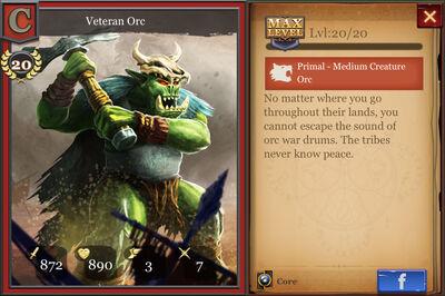 Veteran Orc max