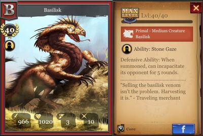 Basilisk max