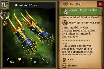 Gauntlets of speed B