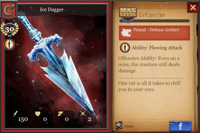Ice Dagger C+ max