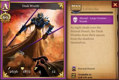 Dusk Wraith max