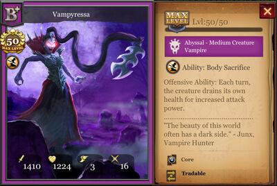 Vampyressa B+ max