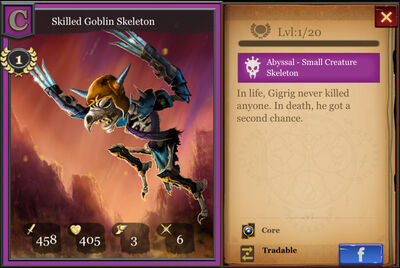 Skilled Goblin Skeleton